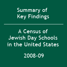 Key Findings of the 2008-09 Census of Jewish Day Schools in the United States (2009)