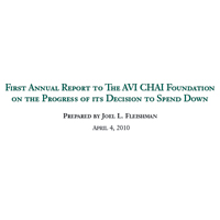 2009:  First Annual Report to The AVI CHAI Foundation on the Progress of its Decision to Spend Down