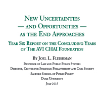 2014: Sixth Annual Report to The AVI CHAI Foundation on the Progress of its Decision to Spend Down