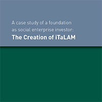 A case study of a foundation as social enterprise investor: The Creation of iTaLAM
